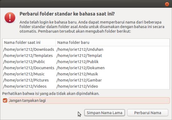 Dialog Window setelah ganti bahasa Ubuntu 12.04