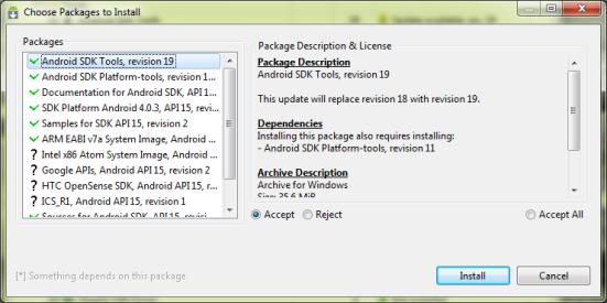 install android sdk
