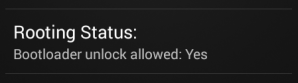 Unlock Bootloader Allowed